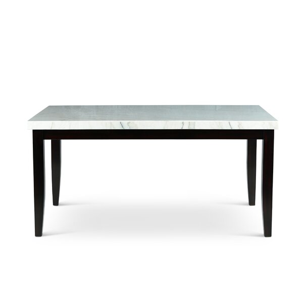 Joaquin Marble Top Dining Table by Red Barrel Studio