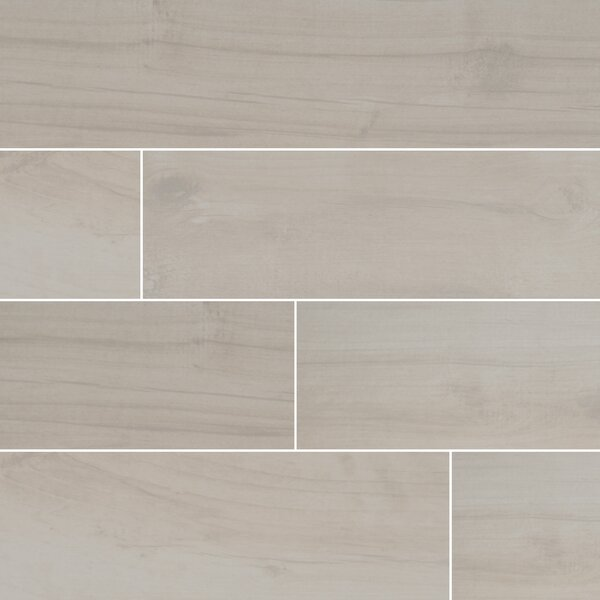 Palmetto 6 x 36 Porcelain Wood Tile in Bianco by MSI