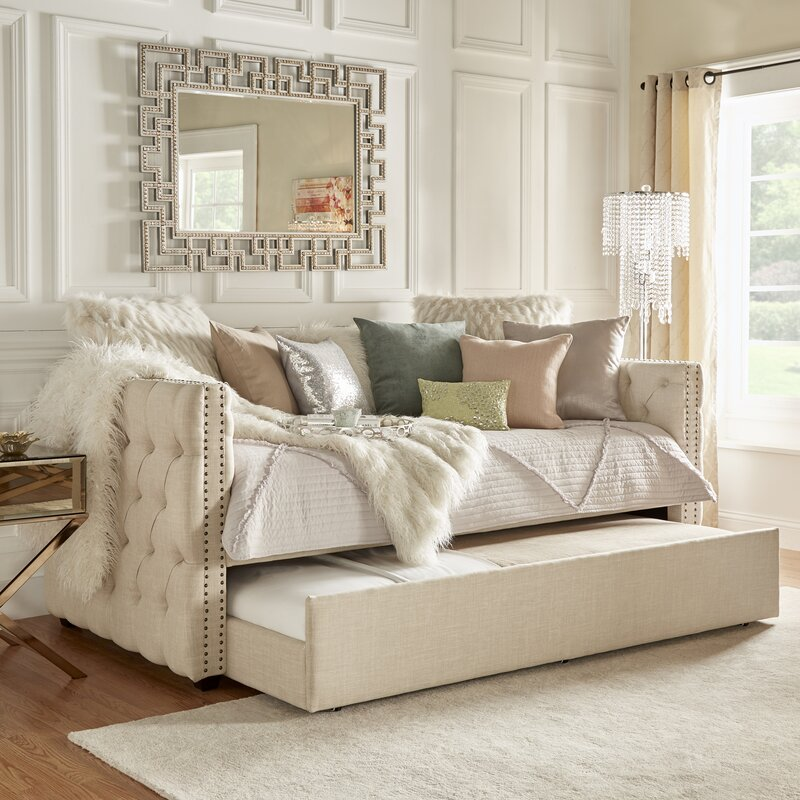 Merveilleux Full Scribner Button Tufted Daybed With Trundle