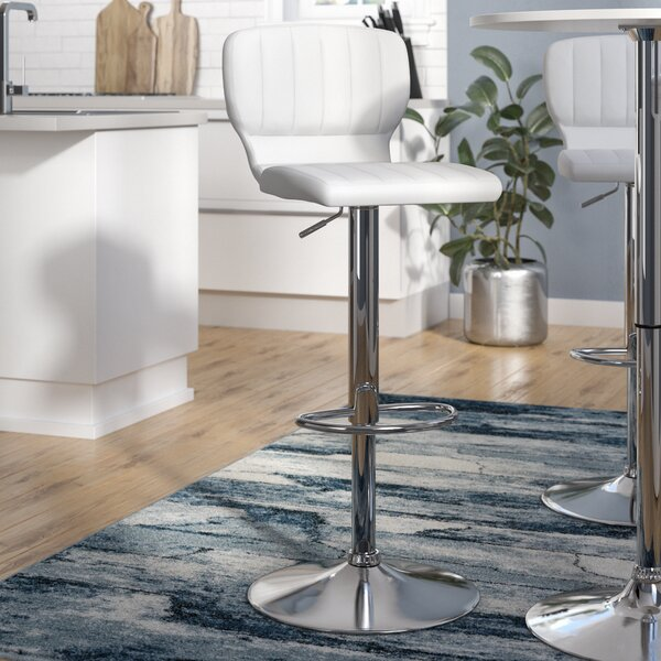 Hellwig Adjustable Height Swivel Bar Stool by Wade