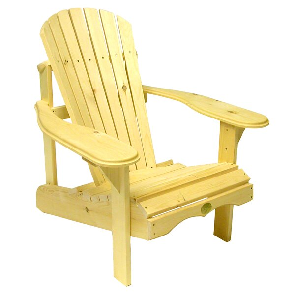 The Bear Solid Wood Adirondack Chair by W Home W Home