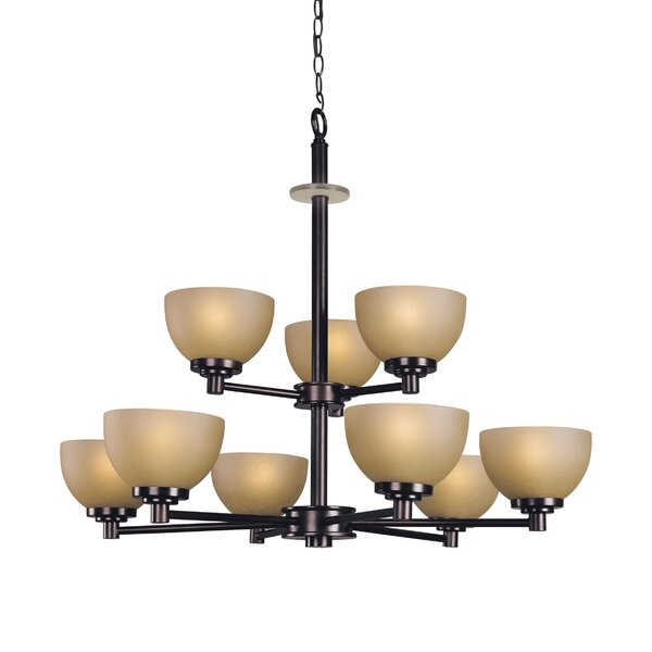 Ajo 9 - Light Shaded Tiered Chandelier by Woodbridge Lighting Woodbridge Lighting