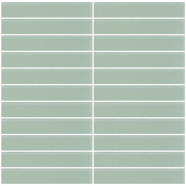 Bijou 16 Frosted 1 x 6 Glass Subway Tile in Light Sage Green by Susan Jablon