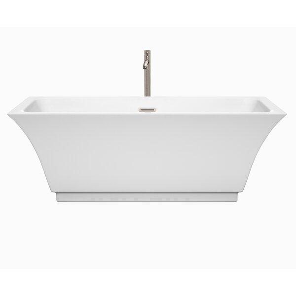 Galina 67 x 31.3 Freestanding Soaking Bathtub by Wyndham Collection