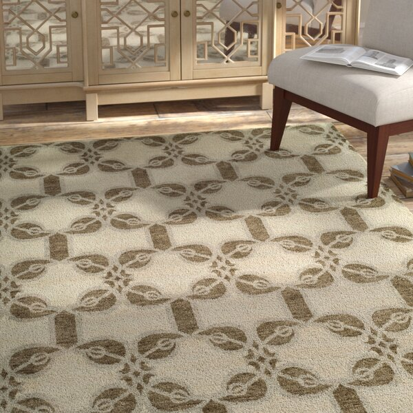 Guilaine Hand Knotted Wool Ivory Area Rug by Bloomsbury Market