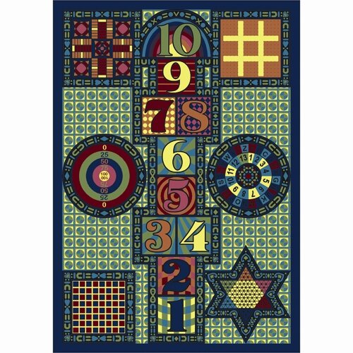 Joy Games Blue Area Rug by The Conestoga Trading Co.