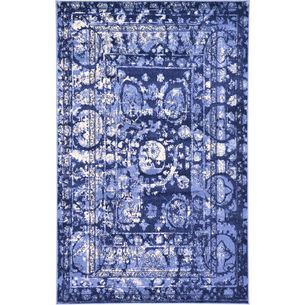 Mcdonell Blue Area Rug by World Menagerie