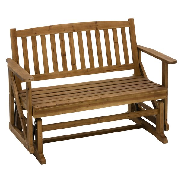Glider Wooden Garden Bench by Jack Post