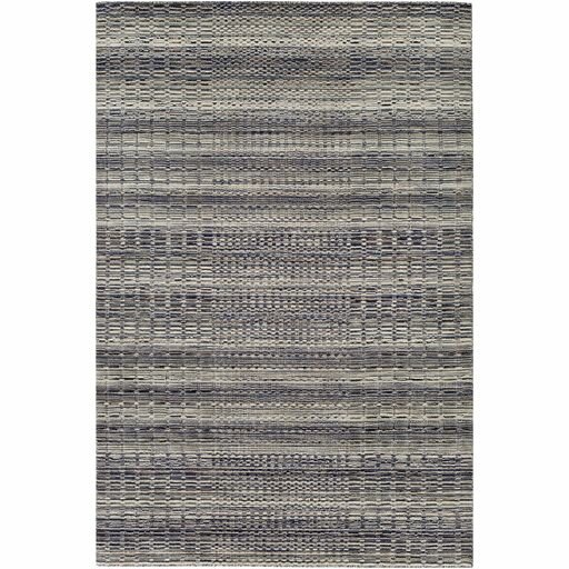 Alysa Hand-Loomed Light Gray/Navy Area Rug by Union Rustic