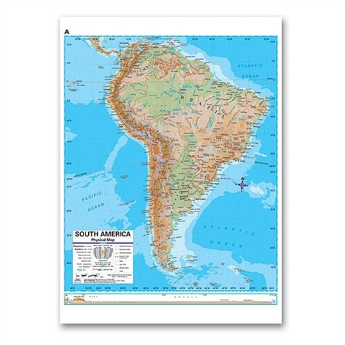 Advanced Physical Deskpad - South America by Universal Map