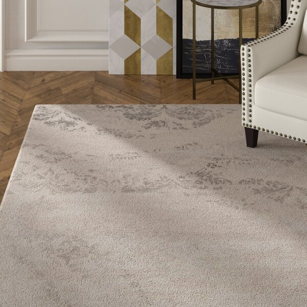 Lees Hand-Knotted Platinum Area Rug by Rosdorf Park