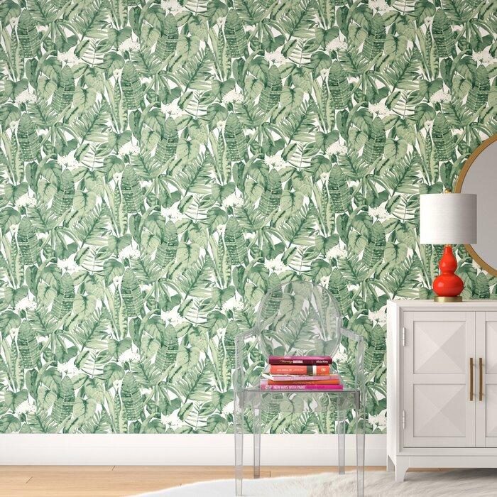 Genevieve Tropical Jungle 33 L X 20 W Peel And Stick Wallpaper Roll