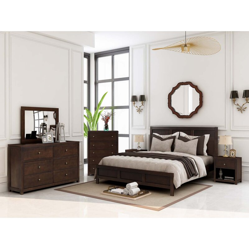 red barrel studio® ano solid wood platform 6 piece bedroom