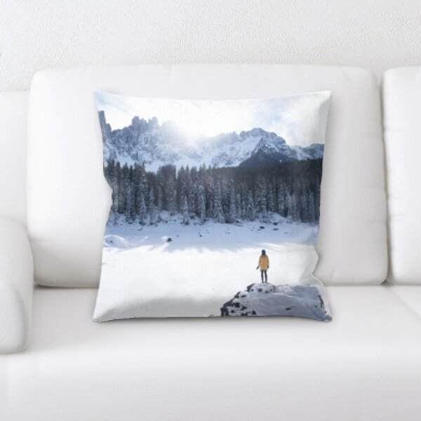 Winter Feeling (216) Throw Pillow by Rug Tycoon