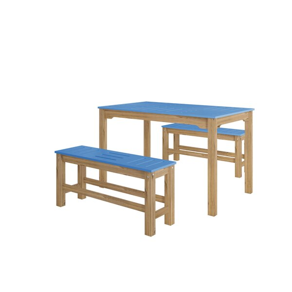 Wiggin 6 Piece Solid Wood Dining Set by Millwood Pines