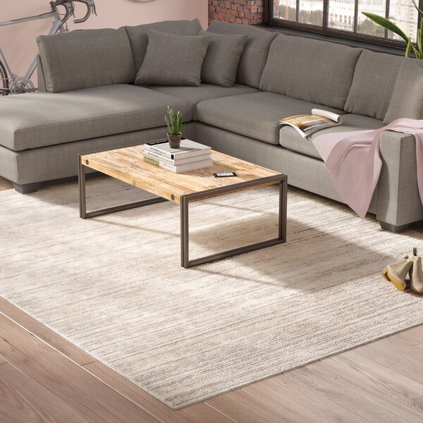 Bridgeton Distressed Modern Gray/Cream Sleek Area Rug by Greyleigh