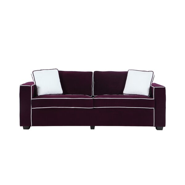 Arjun Modern Velvet Fabric Sofa by Wrought Studio