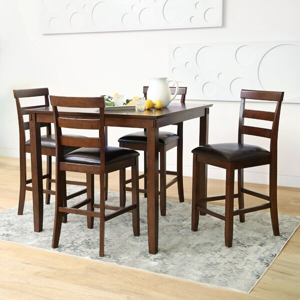 Chriopher 5 Piece Dining Set by Alcott Hill