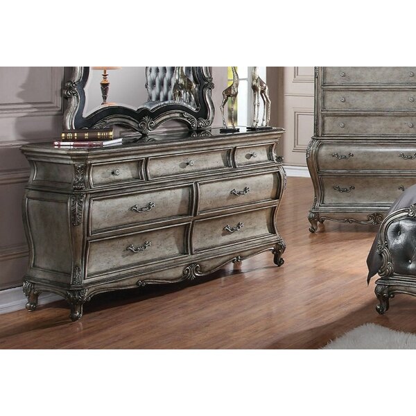 Wolfgang 7 Drawer Double Dresser by Rosdorf Park
