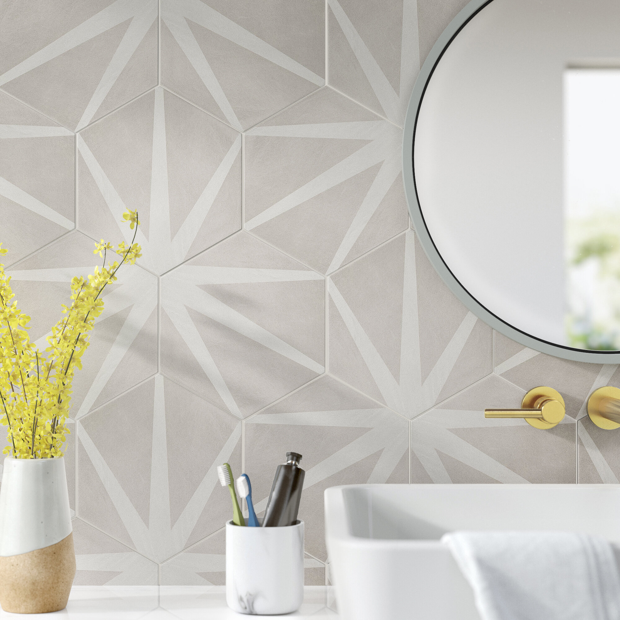 Patterned Wall Floor Tile