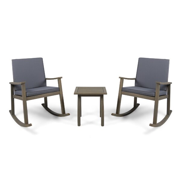Bosse 3 Piece 2 Person Seating Group With Cushions By Union Rustic
