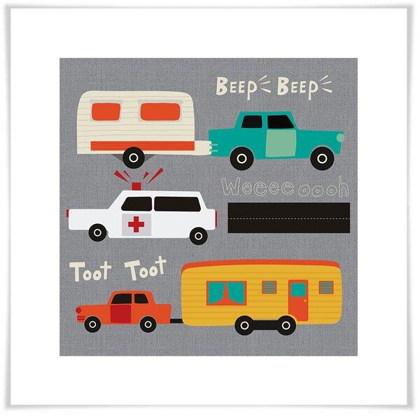 Arlott Beep Beep Toot Toot Paper Print by Harriet Bee