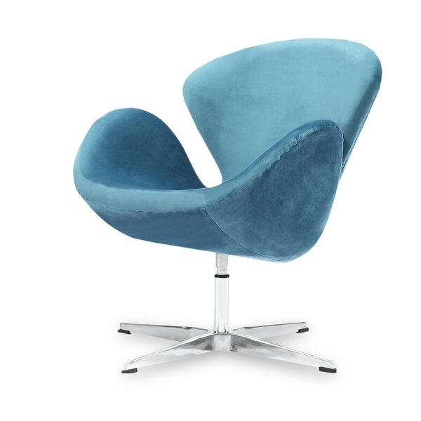 Dufour Mid-century Modern Swivel Balloon Chair by Everly Quinn