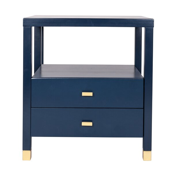 Solid Wood 2 Drawer End Table With Storage By Latitude Run
