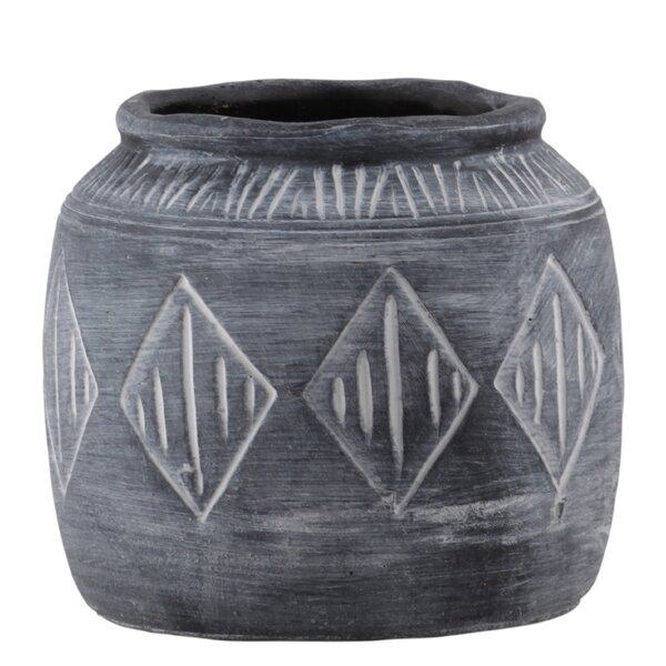 Weddle Round Cement Pot Planter by Gracie Oaks