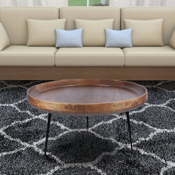 Review Streeter Round Mango Wood Coffee Table