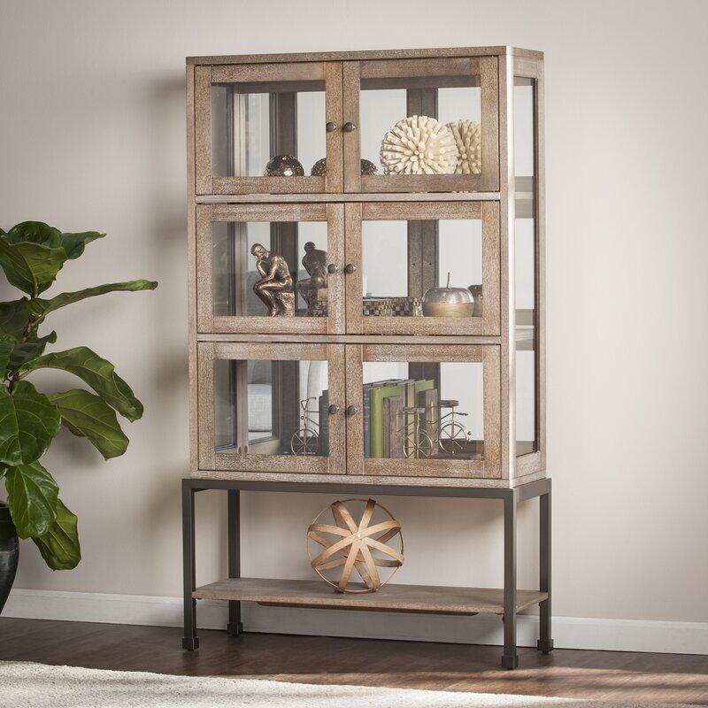 Laurel Foundry Modern Farmhouse Pantin Lighted Curio Cabinet ...
