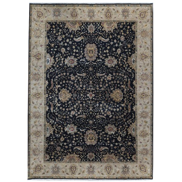 One-of-a-Kind Sona Hand-Knotted Black 10'1 x 14'1 Area Rug