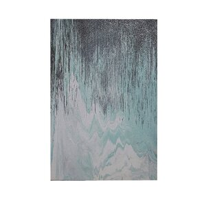 Abstracted Chervon by Blakely Bering Painting Print on Wrapped Canvas by INK+IVY