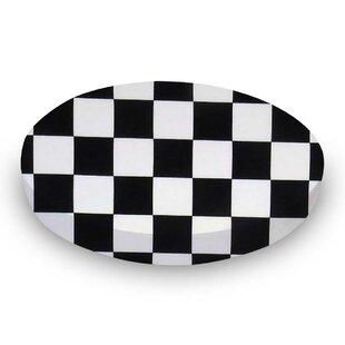 Reviews Black White Checkerboard Fitted Crib Sheet BySheetworld