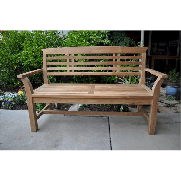 Bowes Teak Garden Bench by Freeport Park