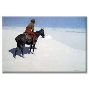 'The Scout and Friends or Foes' by Frederic Remington Painting Print on Canvas by Buyenlarge