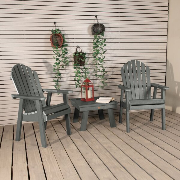 Deerpark Plastic Adirondack Chair with Table by Longshore Tides Longshore Tides