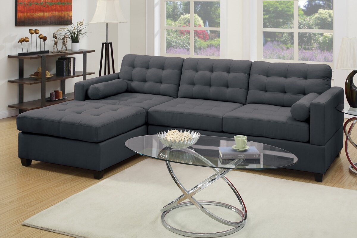 Corrine 110 Reversible Chaise Sectional Reviews Joss Main ~ Reversible Sectional Sofa Chaise