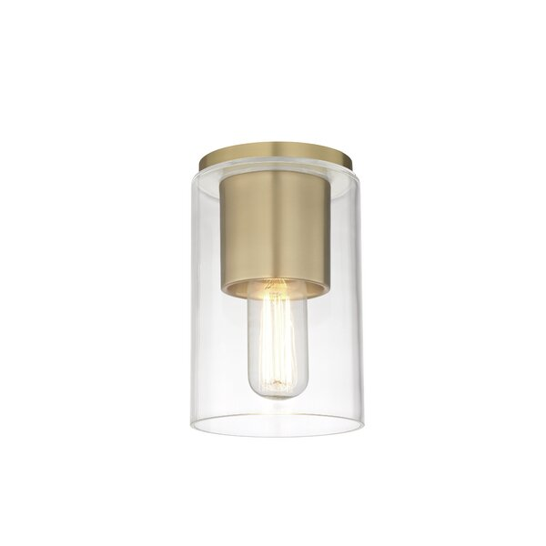 Cyrus 1-Light Semi Flush Mount by Corrigan Studio