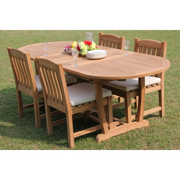 Delsur 5 Piece Teak Dining Set by Rosecliff Heights