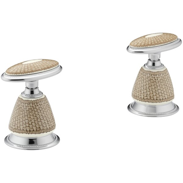 Pheasant Design On Antiqueceramic Handle Inset for Bath Faucets by Kohler