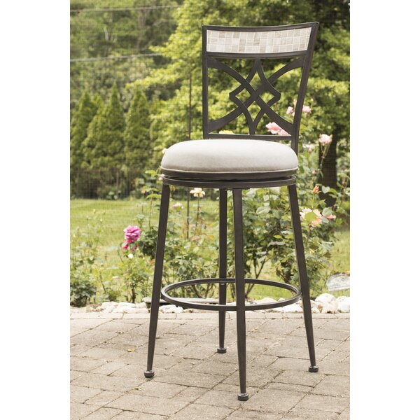 Hubbard 30 Swivel Indoor/Outdoor Patio Bar Stool by Red Barrel Studio