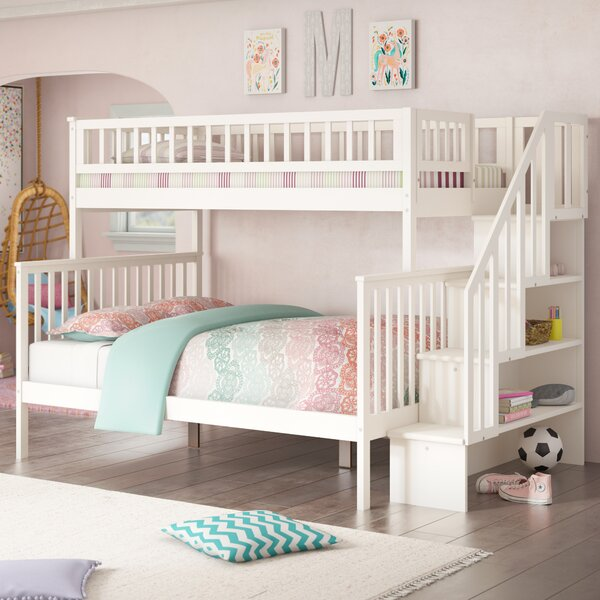 Shyann Twin Over Full Bunk Bed with Shelves by Viv + Rae