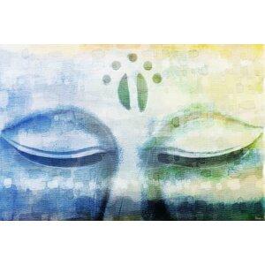 Meditation Graphic Art on Canvas by Parvez Taj