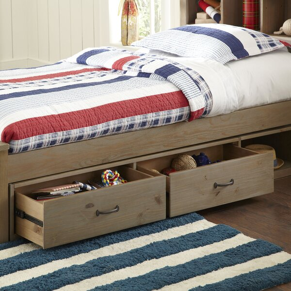 Bedlington Panel Bed with Bookcase by Greyleigh