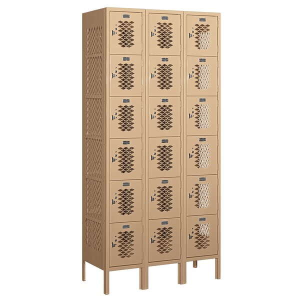 6 Tier 3 Wide Employee Locker by Salsbury Industri