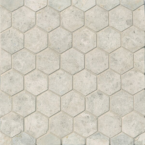 Hexagon Marble Mosaic Tile in Sebastian Grey by Grayson Martin