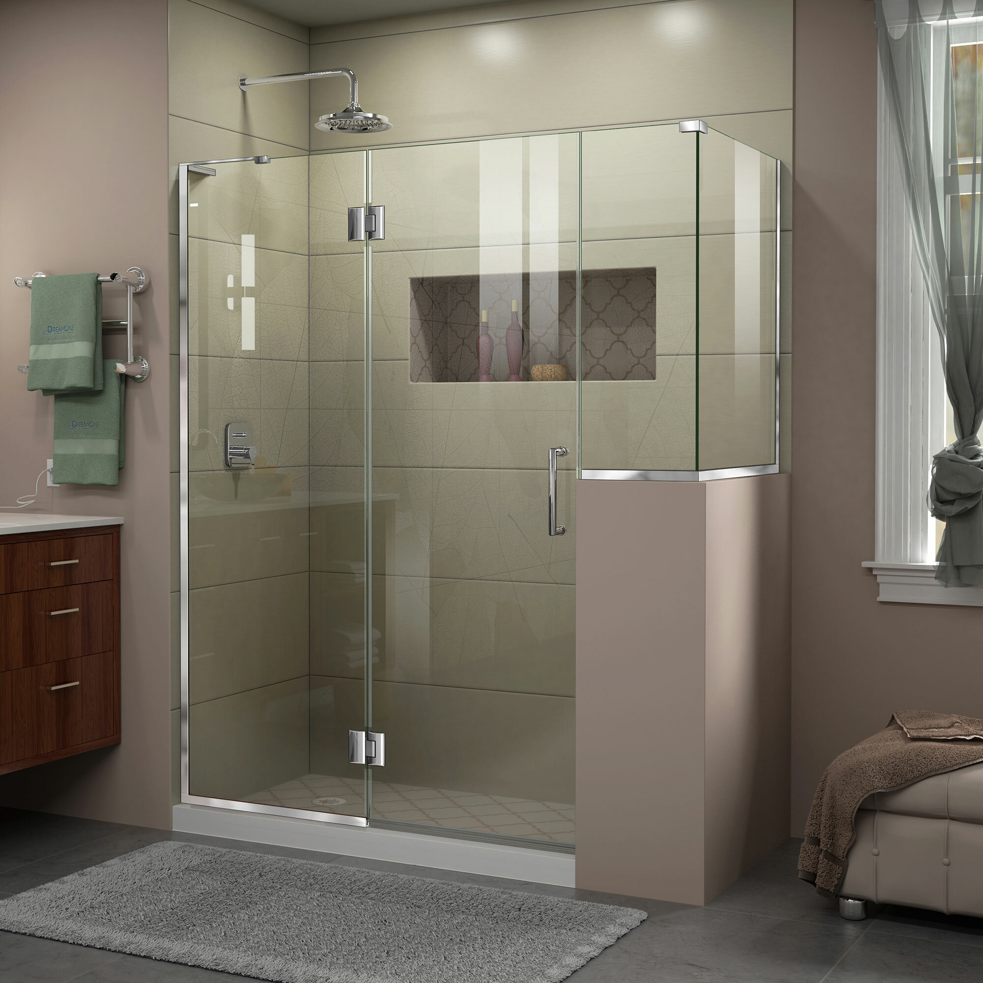 Dreamline Unidoor X 60 72 Hinged Frameless Shower Door With Clear Max Technology Wayfair