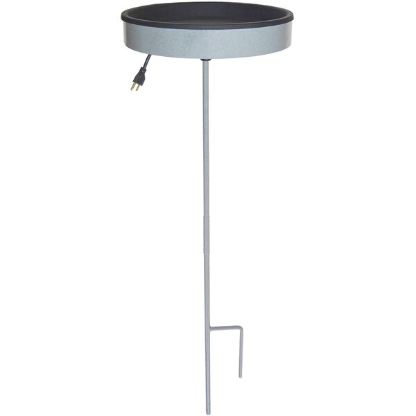 Pole Mounted Heated Birdbath by Erva