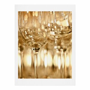 Wine Glasses by Bird Wanna Whistle Photographic Print by Deny Designs